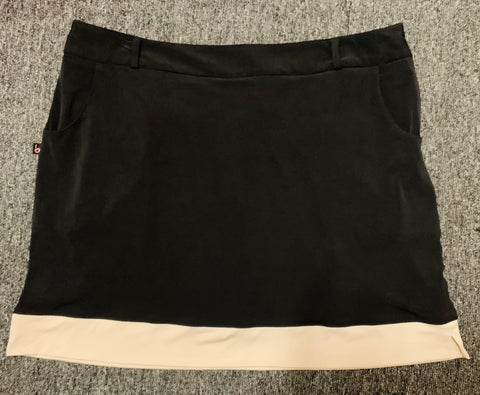 Ladies Birdee Sport Stretch Tech Skort Black/Stone