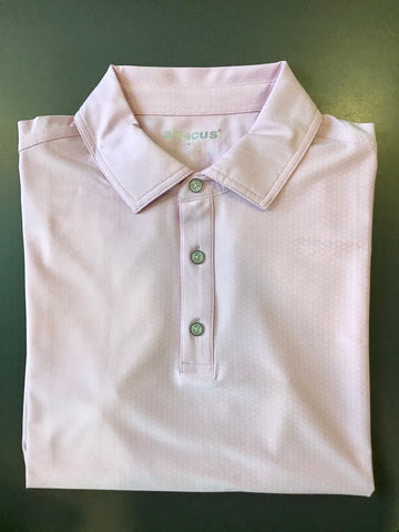 Mens Abacus Textured Polo Pink Lavender