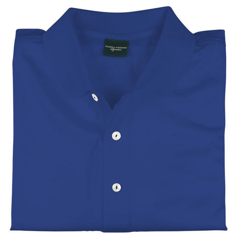 Mens Fairway & Greene Signiture Lisle Solid Polo Royalty - Golf Stitch