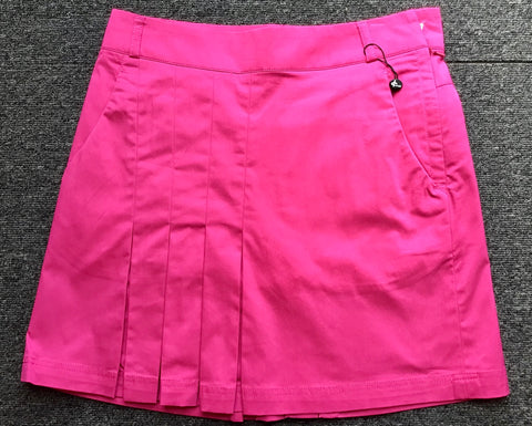 Ladies Cross Mila Pleated Skort Carmine Pink