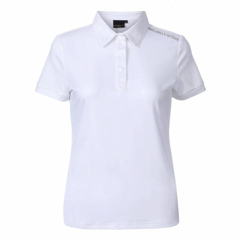 Ladies Red Belly Active Light Jersey Polo White