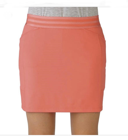 Ladies Adidas Skort Orange Red