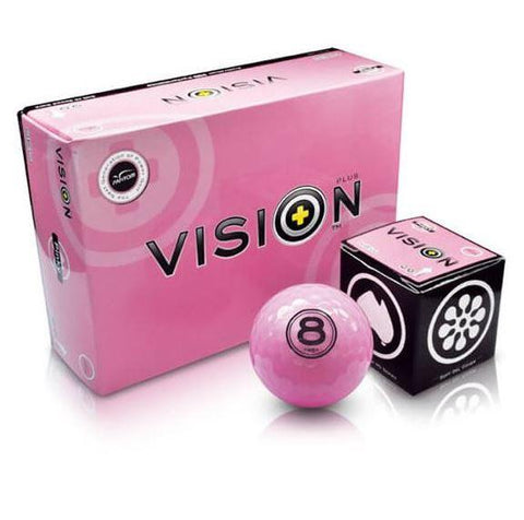 Vision Pinky Golf Balls Pink 6 Ball Pack