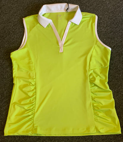 Ladies Nivo Sleeveless Polo Lime