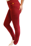 Ladies Red Belly Active Winter Pants Red