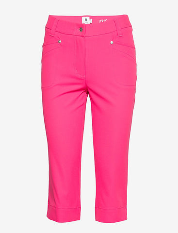 Ladies Daily Sports Lyric Capri Cerise