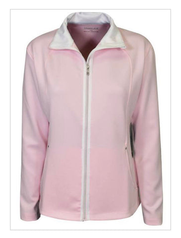 Ladies Maggie Lane Full Zip Jacket Light Pink