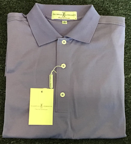 Mens Fairway & Greene Signiture Solid Lisle Polo Orchid