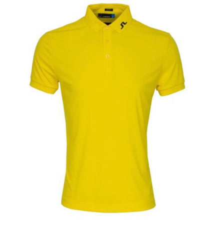 Mens J.Lindeberg KV Reg Jersey Polo Banging Yellow
