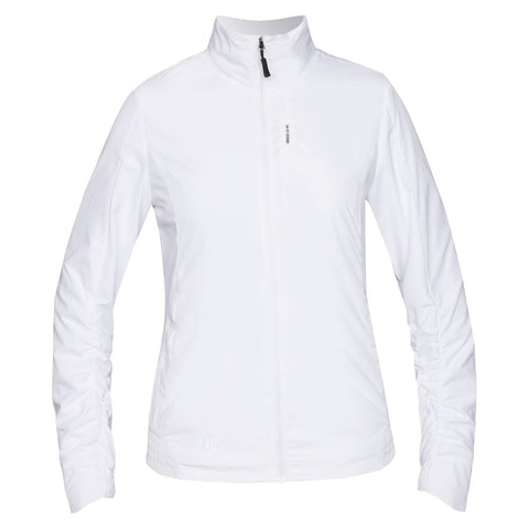 Ladies Nivo Kloe Jacket White - Golf Stitch