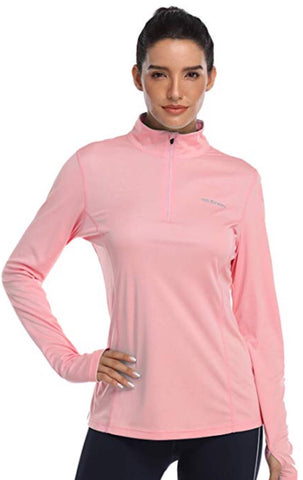 Ladies Hiskywin Longsleeve Sun Top Coral