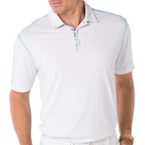 Mens IBKUL Solid Polo White