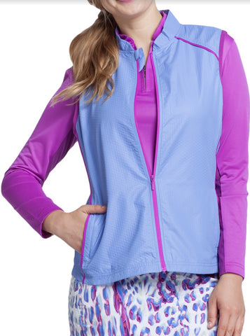 Ladies GGblue Kacy Windvest Persian Blue - Golf Stitch