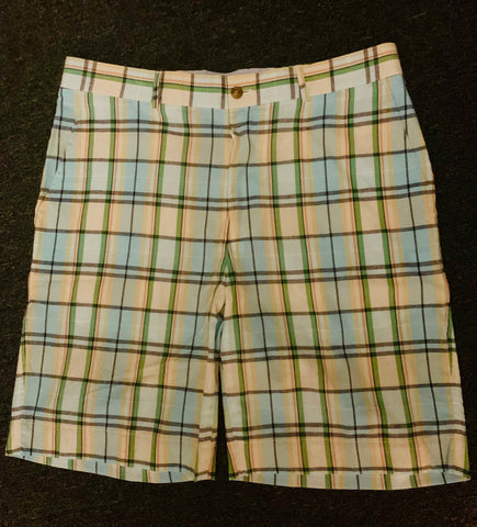 Mens Fairway & Greene Homes Sound Madras Plaid Shorts  White Multi