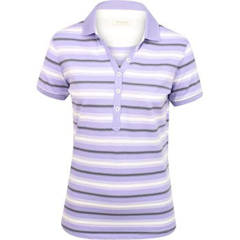 Ladies Kartel Sandra Polo Lilac - Golf Stitch
