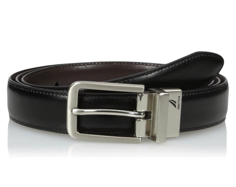 Mens Nautica Leather Reversible Belt Black/Brown