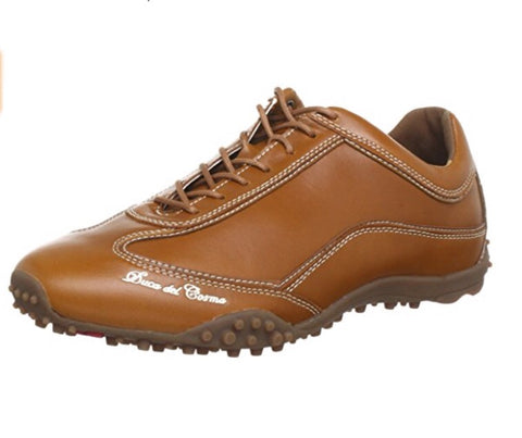 Mens Duca Del Cosma Neromare Evolution Golf Shoes Cognac - Golf Stitch