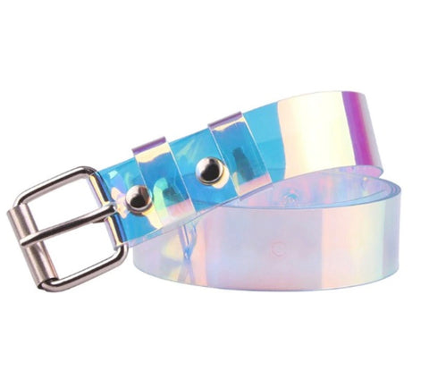 Ladies Chloe Lee Style Transperant Belt