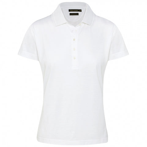 Ladies Sporte Double Mercerised Cotton Polo White