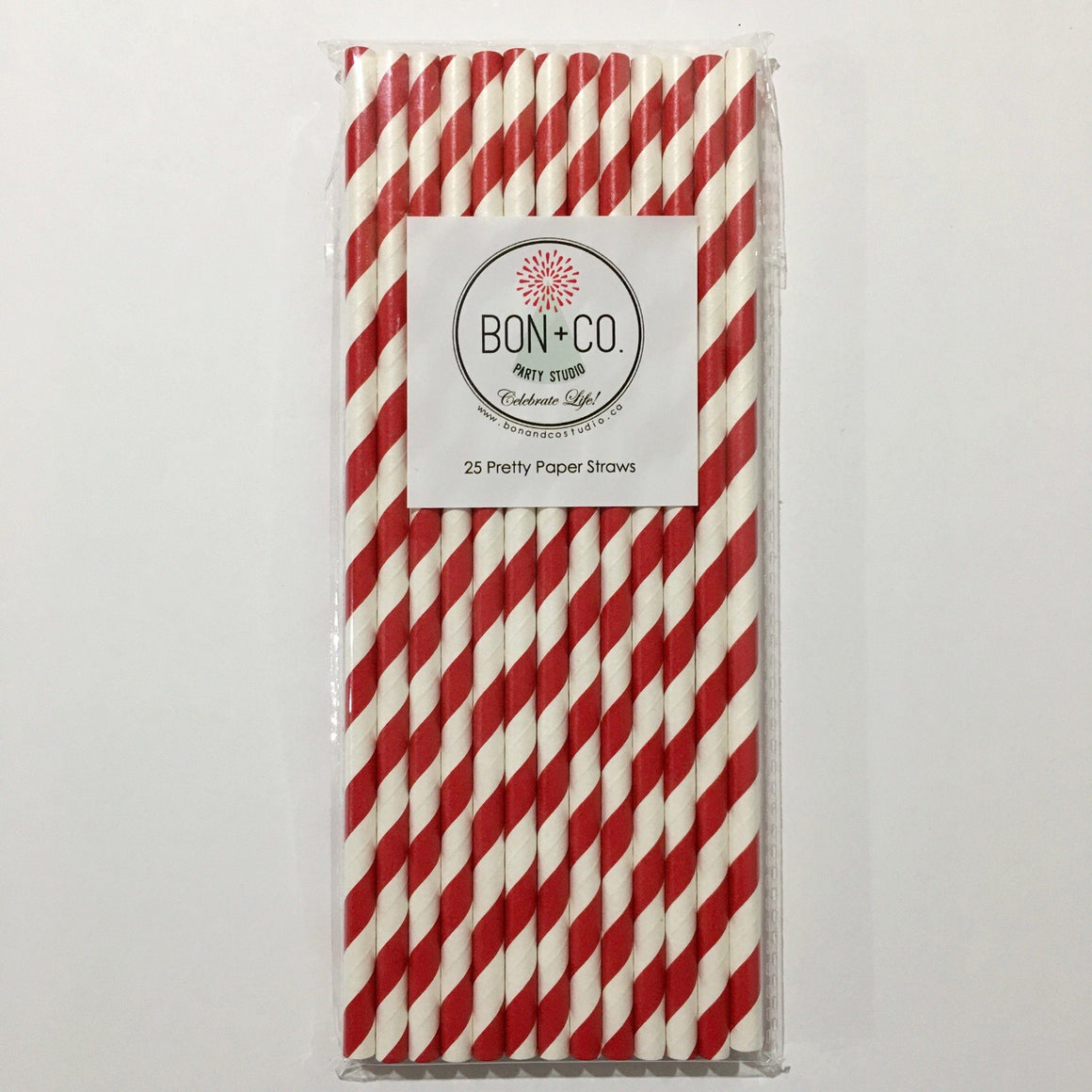 STRAWS - STRIPEY RED