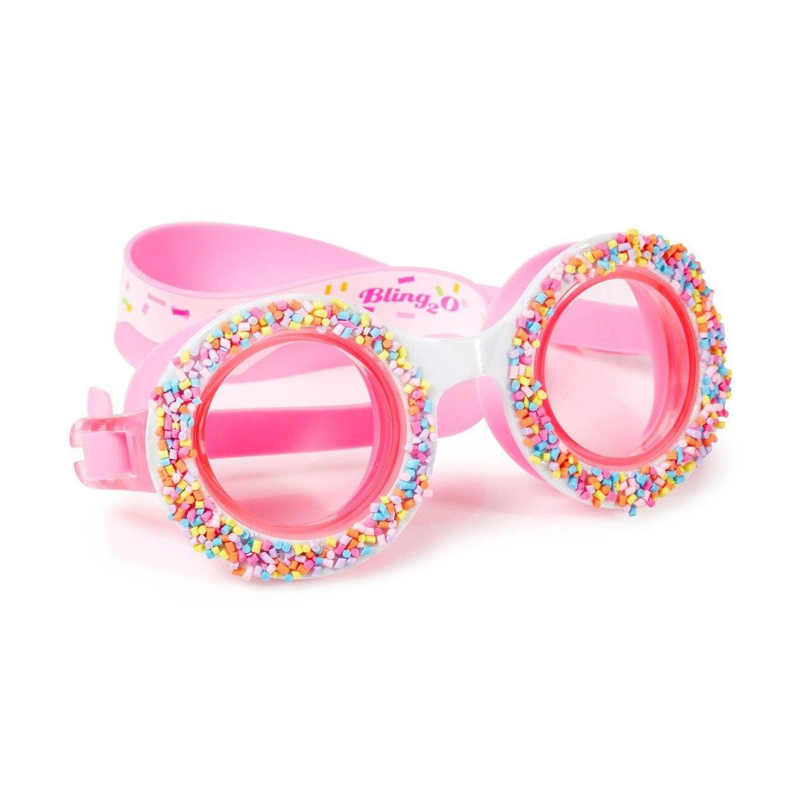 BLING2o GOGGLES - DONUTS 4U BOSTON CREME PINK, Swim goggles, Bling2o - Bon + Co. Party Studio