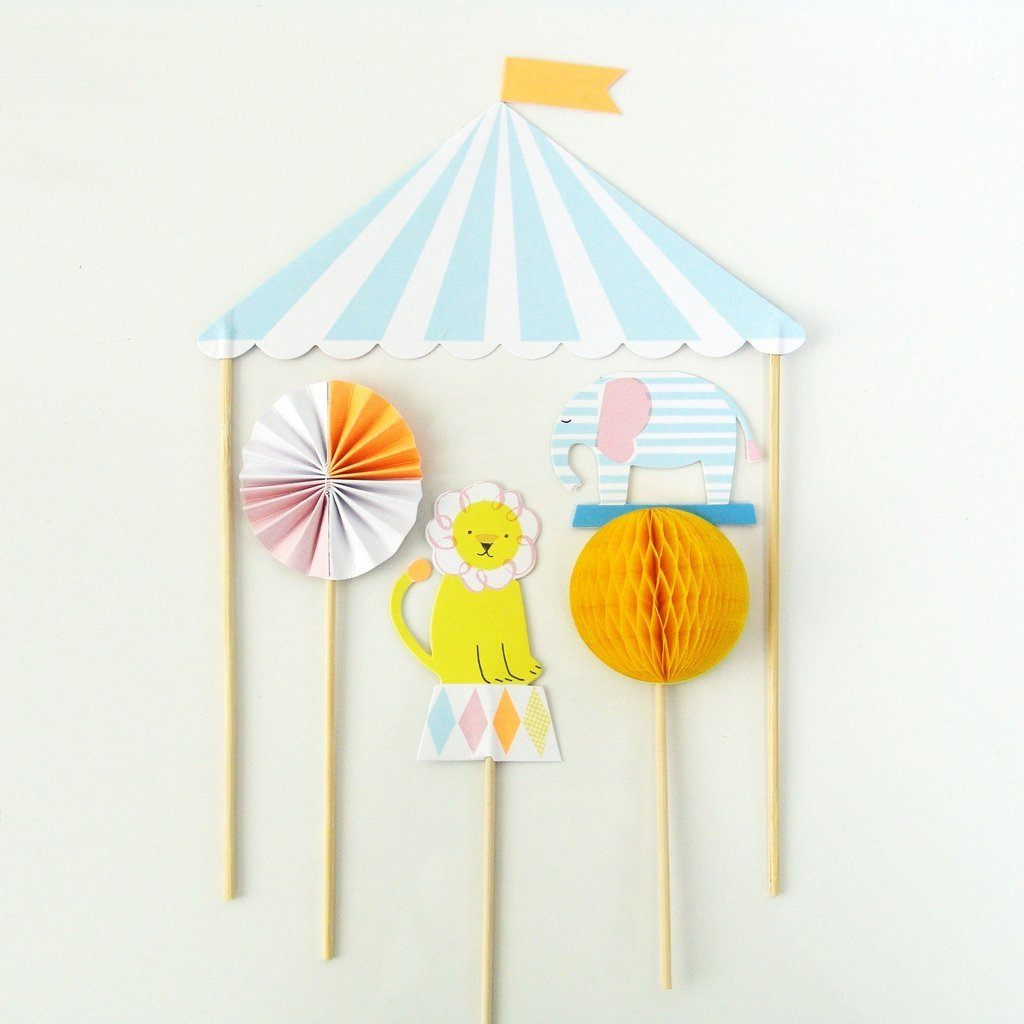 CAKE TOPPER - MERI MERI SILLY CIRCUS, Picks + Toppers, MERI MERI - Bon + Co. Party Studio