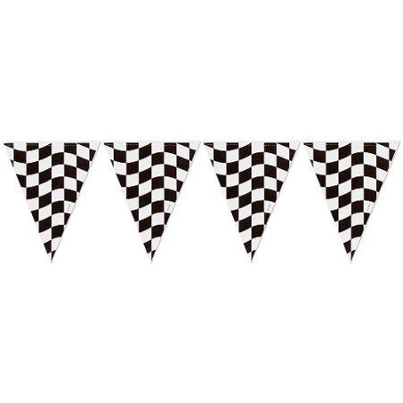 BANNER - PENNANT CHECKERED FLAG, BANNER, SKS - Beistle Co - Bon + Co. Party Studio