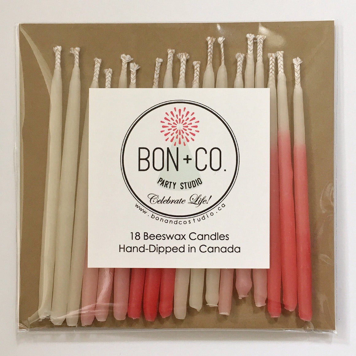 NATURAL PARTY CANDLES - BEESWAX OMBRE WARM HUES, Candles + Sparklers, BON + CO - Bon + Co. Party Studio