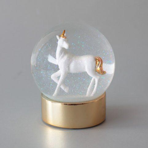 GIFTS - SNOW GLOBE UNICORN