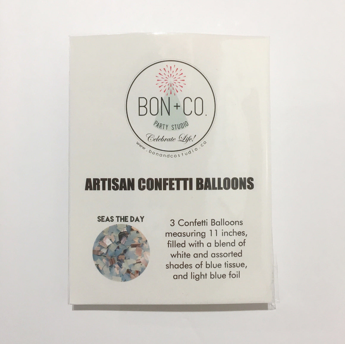 "BALLOONS - CONFETTI 11"" BALLOONS 3 PACK, Balloons, BON + CO - Bon + Co. Party Studio"