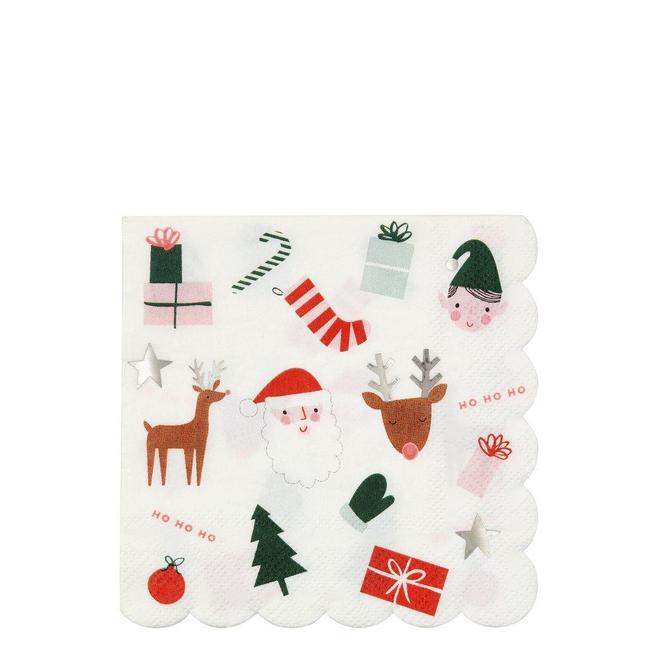 NAPKINS - LARGE CHRISTMAS FUN MERI MERI