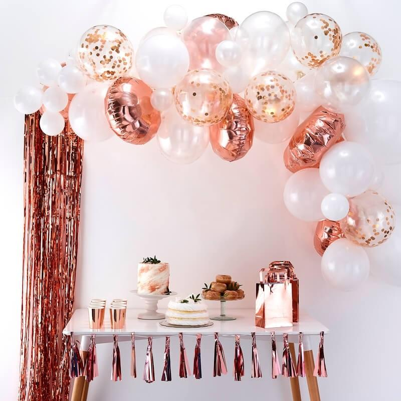 BALLOON ARCH - ROSE GOLD GINGER RAY, Balloons, GINGER RAY - Bon + Co. Party Studio