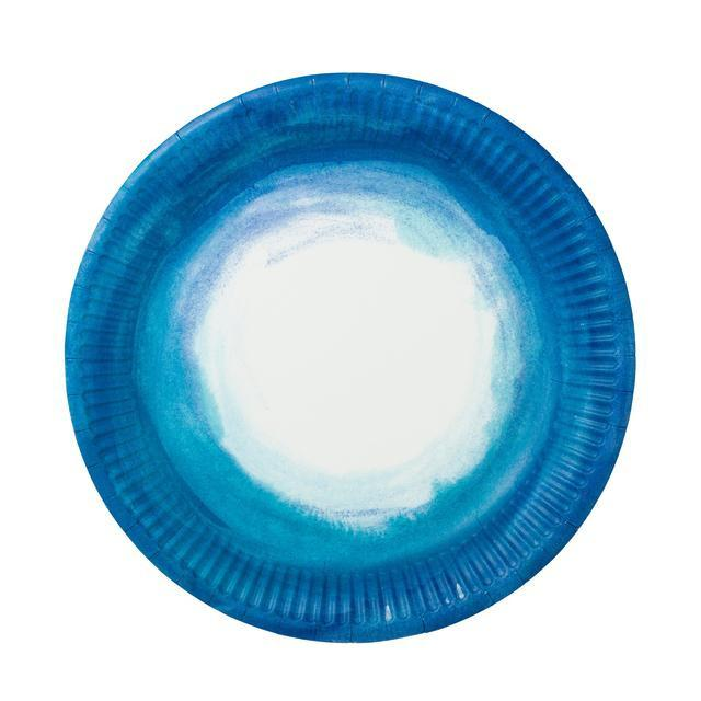 PLATES - LARGE COASTAL OMBRE BLUE