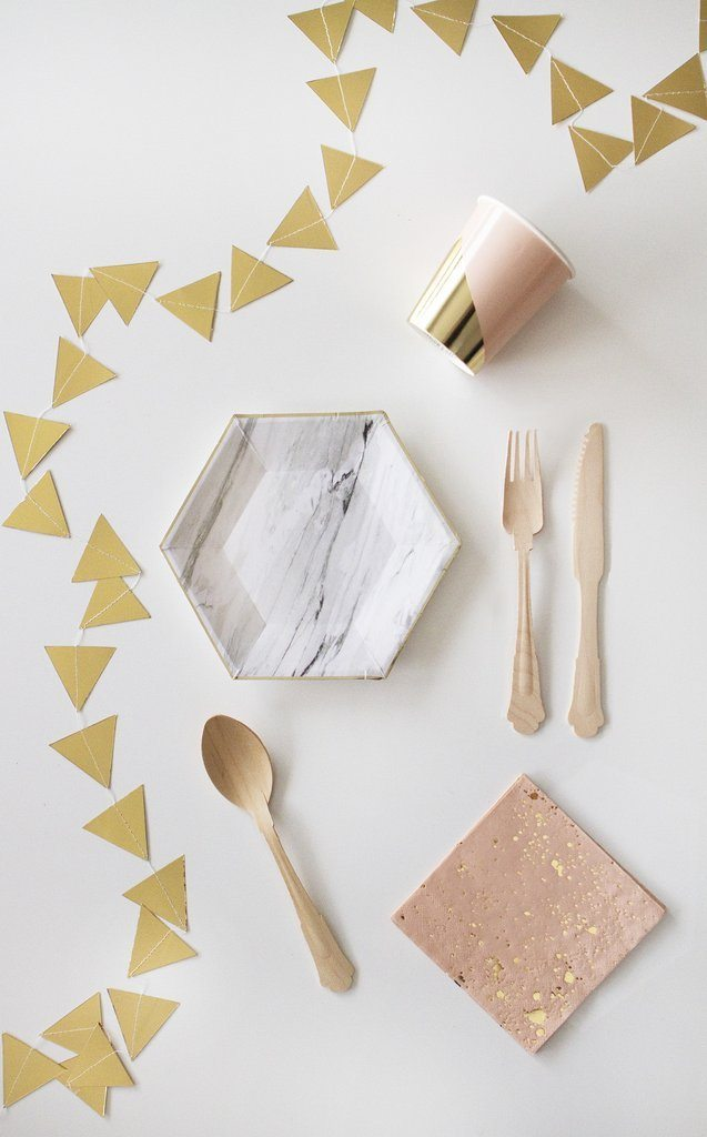BUNTING - GOLD TRIANGLE, Buntings, HARLOW & GREY - Bon + Co. Party Studio