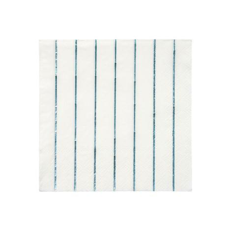 NAPKINS - COCKTAIL BLUE HOLOGRAPHIC STRIPE
