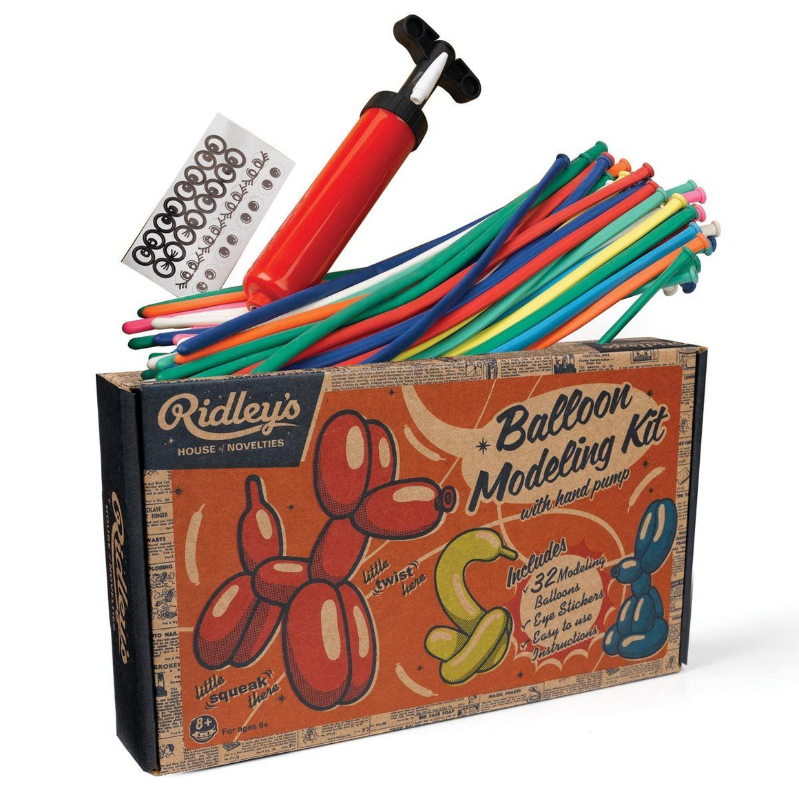 BALLOON KIT - RETRO BALLOON TWISTING SET, FAVOURS, Wild & Wolf - Bon + Co. Party Studio
