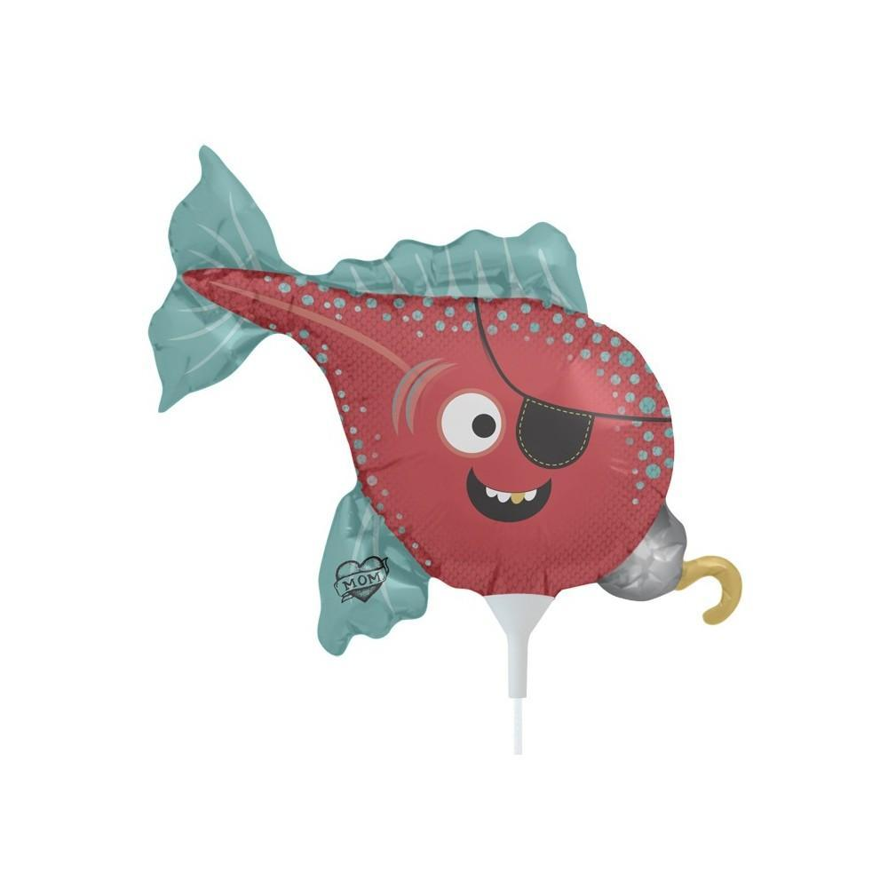 BALLOONS - SEA LIFE WAND PIRATE FISH, Balloons, Northstar - Bon + Co. Party Studio