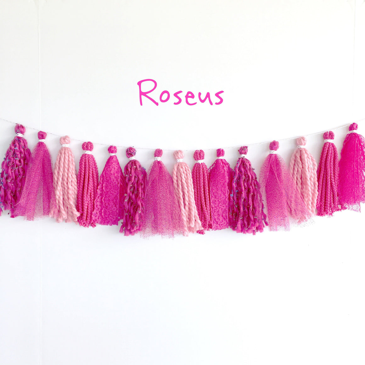 TASSEL GARLAND - FABRIC MIXED ROSEUS