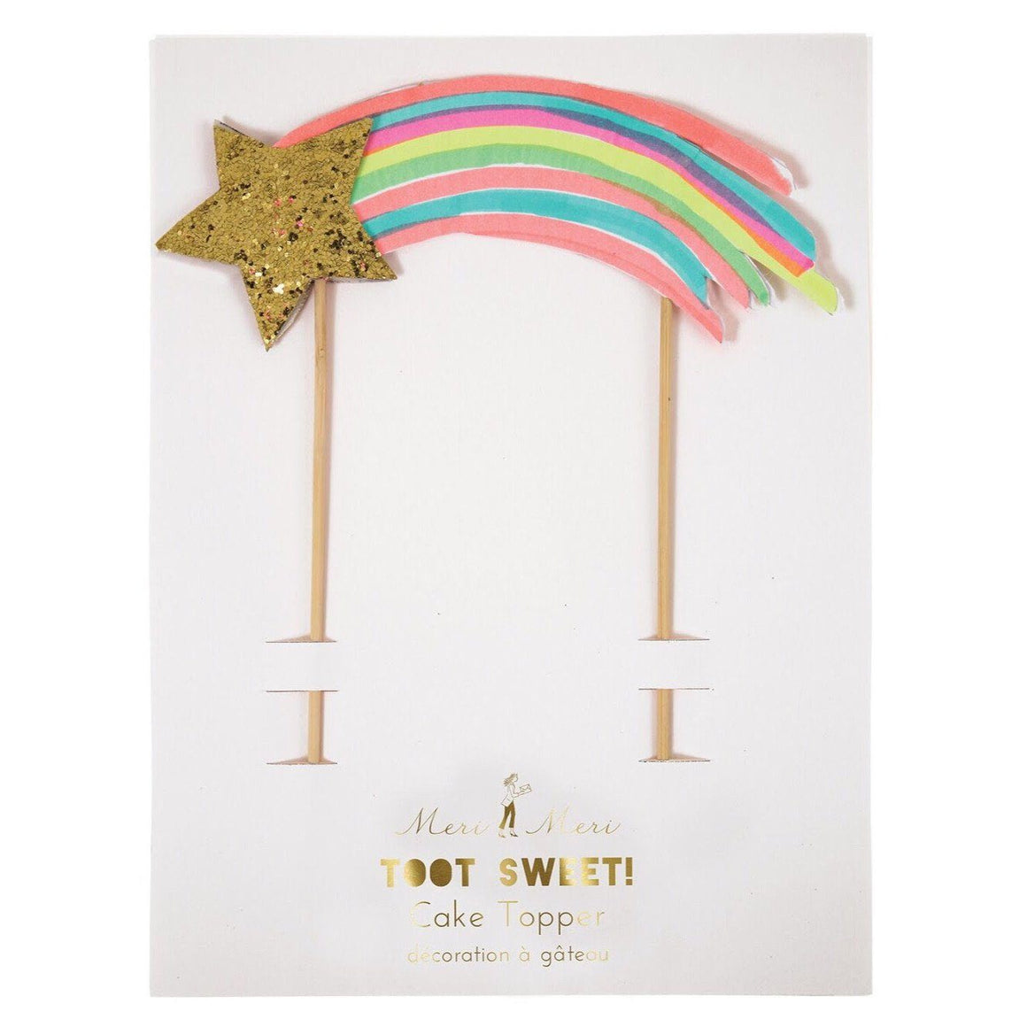 CAKE TOPPER - MERI MERI SHOOTING STAR, Picks + Toppers, MERI MERI - Bon + Co. Party Studio