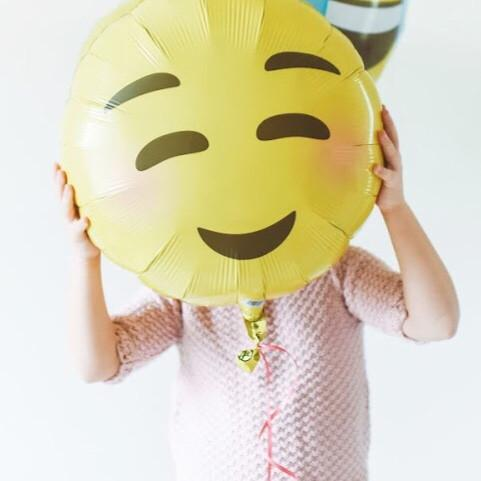 BALLOONS - EMOJI STYLE 1 - BLUSHING SMILE, Balloons, Northstar - Bon + Co. Party Studio