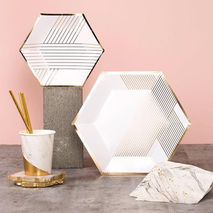 CUPS - COLOURBLOCK BLANC MARBLE, CUPS, HARLOW & GREY - Bon + Co. Party Studio