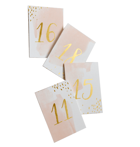 PLACE CARDS + TABLE NUMBERS - DAYDREAM WATERCOLOUR - 11 TO 20