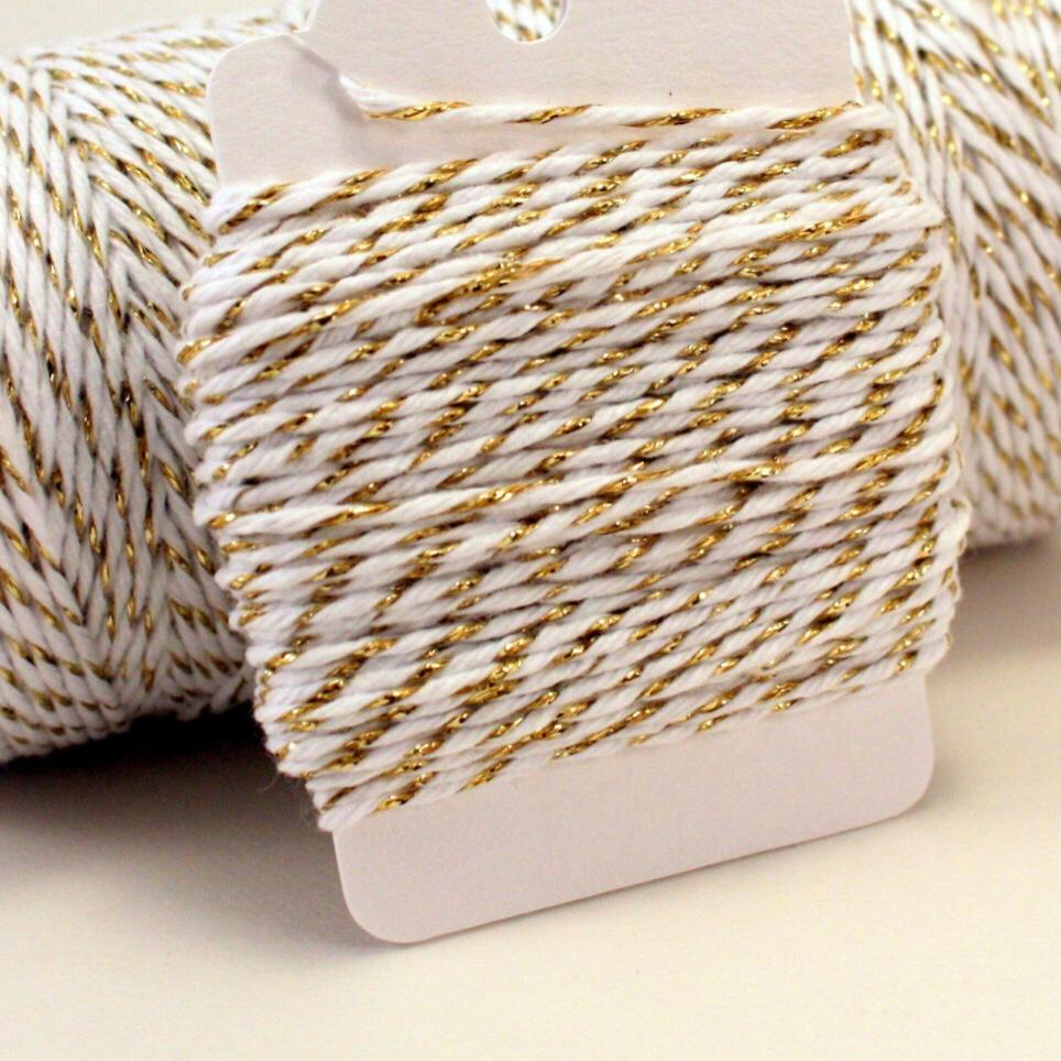 ESSENTIALS - TWINE GOLD IVORY STRIPE, TWINE, BON + CO - Bon + Co. Party Studio