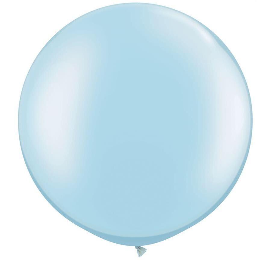 "BALLOON BAR - 36"" JUMBO ROUND PALE BLUE, Balloons, QUALATEX - Bon + Co. Party Studio"