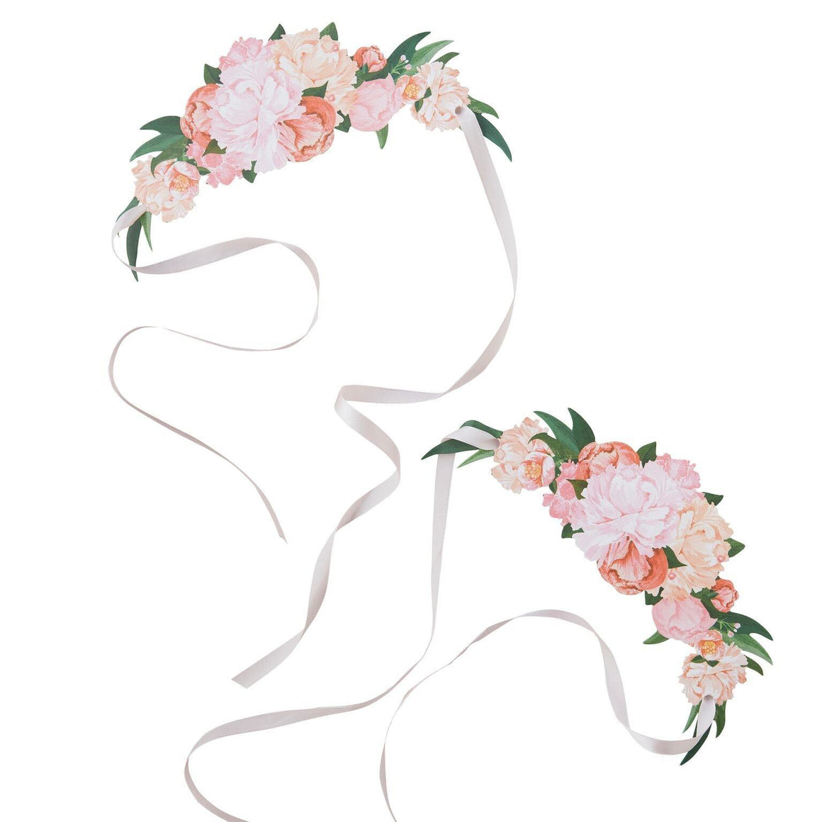 PARTY HATS - FLORAL BOHO TIARA 8 PACK