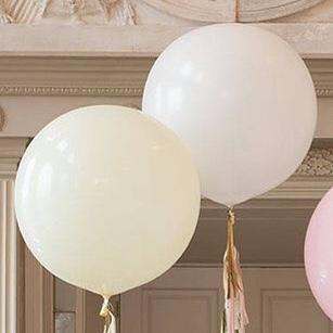 "BALLOON BAR - ROUND 36"" IVORY, Balloons, QUALATEX - Bon + Co. Party Studio"