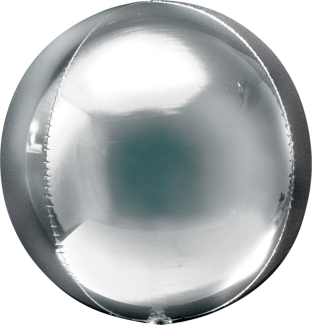 "BALLOON BAR - 16"" ORBZ ROUND SILVER, Balloons, Anagram - Bon + Co. Party Studio"