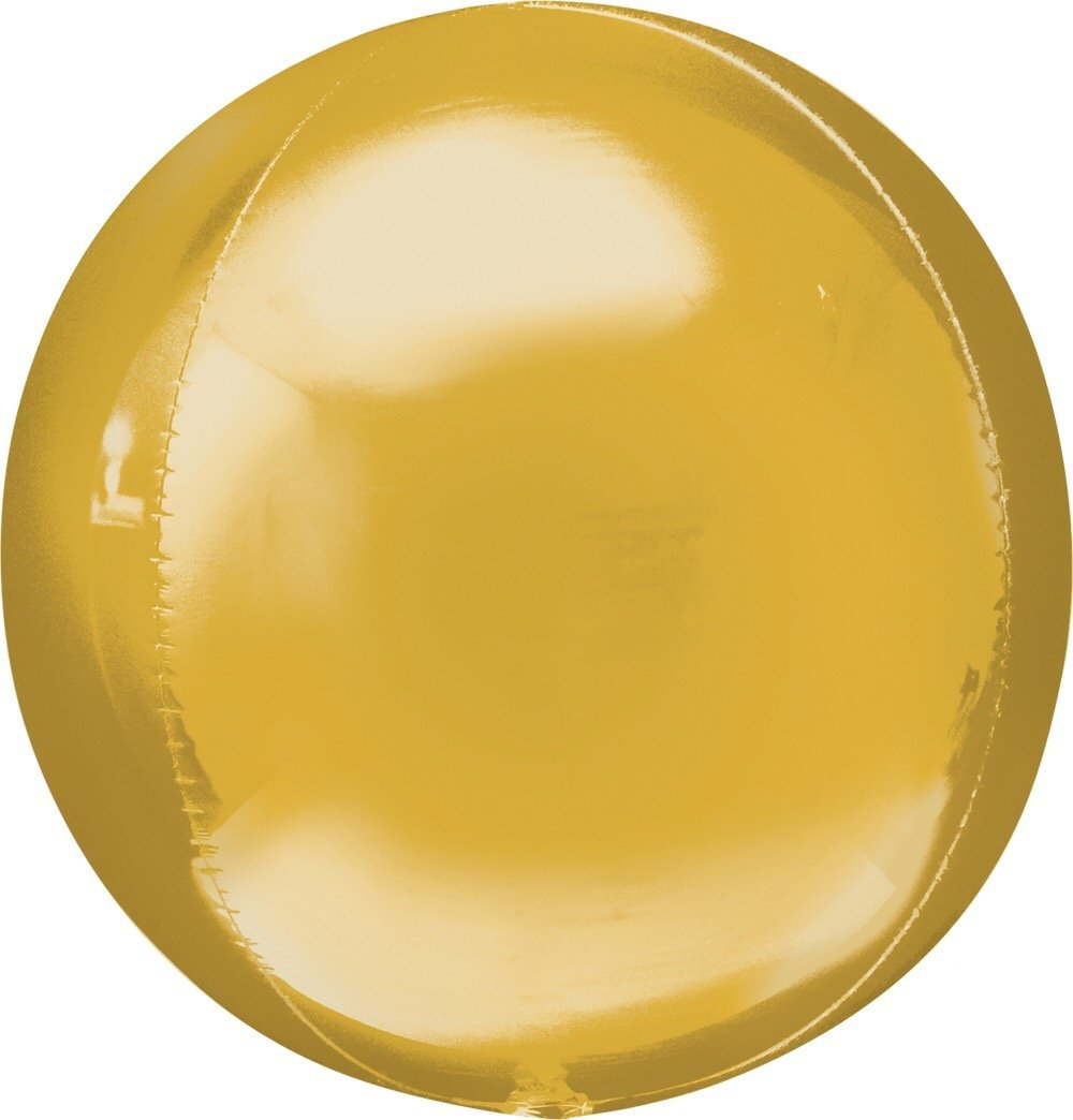 "BALLOON BAR - 16"" ORBZ ROUND GOLD, Balloons, Anagram - Bon + Co. Party Studio"