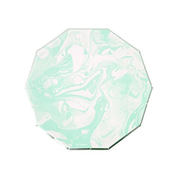 PLATES - SMALL MARBLE MINT
