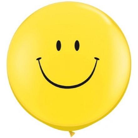 "BALLOONS - SMILEY HAPPY FACE 36"", Balloons, QUALATEX - Bon + Co. Party Studio"